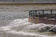 Water supply. Moscow river Stock Photo