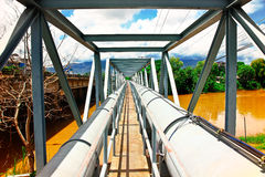 Water supply pipeline Stock Photography
