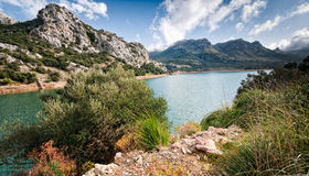 Water supply reservoir majorca gorg blau Stock Image