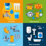 Water Supply Set Stock Photography