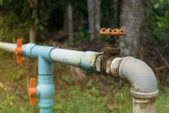 Water supply system Stock Photo