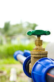 Water supply valve. In the ground of urban park Stock Images