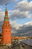 Water Supplying (Vodovzvodnaya) Tower, Moscow Kremlin Stock Images