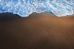 Water surf edge on beach Royalty Free Stock Photography