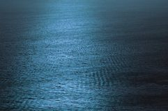Water Surface 2. A blue-tinted picture of the ocean surface textured by gentle waves Royalty Free Stock Photography