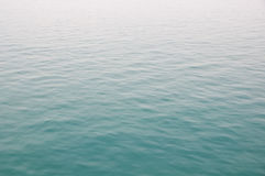 Water surface. With blue reflection in the sea Stock Images