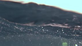 Water surface amazing background of landscape of sea. Close up macro video. Beautiful world. Relax diving stock video
