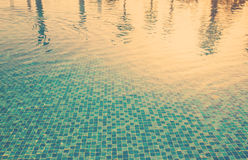Water surface background in outdoor pool Royalty Free Stock Photography