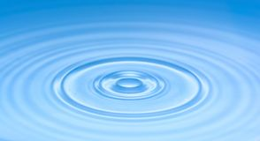 Blue waves on the water surface as a texture stock photo