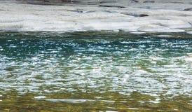 Water surface (closeup) for brook Royalty Free Stock Photos