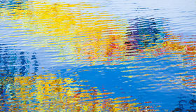 Water surface with colorful reflections. Rippled water surface with colorful reflections, abstract background photo texture stock photos