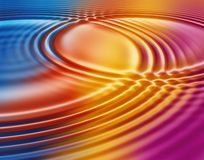 Water surface interference Royalty Free Stock Photography