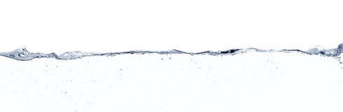 Water surface line. Long line water surface and turbulence against white background Royalty Free Stock Images