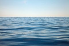 Water Surface. Open water surface of the sea Stock Photo