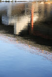 Water Surface With Reflection Stock Images