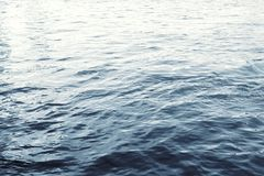 Water surface with ripples and sunlight reflections Royalty Free Stock Images