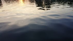 Water surface with ripples and sunlight reflections Royalty Free Stock Photo