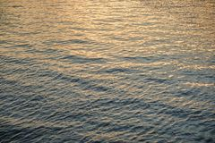 Water surface with ripples and sunrays reflections. A Water surface with ripples and sunrays reflections royalty free stock photo