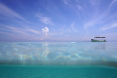 Water surface with sky and cloud Royalty Free Stock Image
