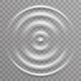 Water surface splash ripple waves decoration transparent background vector illustration. Water surface splash ripple waves decoration transparent vector stock illustration