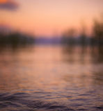 Water surface on sunset Stock Images