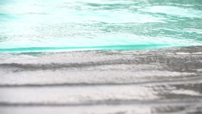 Water Surface at swimming pool .Slow motion at 120 fps stock footage