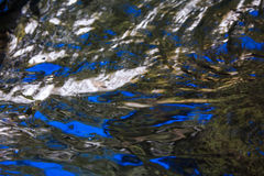 Water surface texture reflect,background. Colorful patterns of blue Stock Image