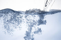 Water surface with wave. And drop Stock Photography