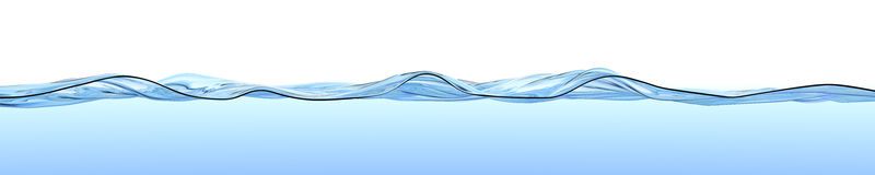 Water surface with waves and ripples. Royalty Free Stock Photography
