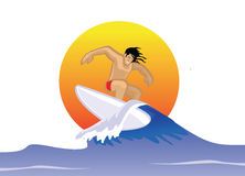 Water surfing Royalty Free Stock Photography