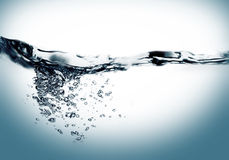 Water swirl. Water movement in swirl effect stock images