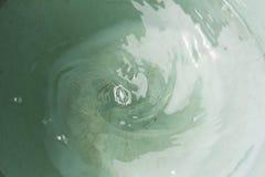 Water swirl white Stock Photography