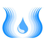 Water symbol Royalty Free Stock Image