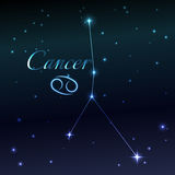 Water symbol of Cancer zodiac sign, horoscope, vector art and illustration. Stock Image