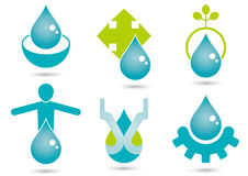 Water symbols Royalty Free Stock Photo