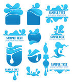 Water symbols and emblems Stock Photo