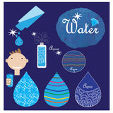 Water symbols set Stock Images