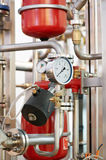 Water system Boiler room equipments Stock Photos