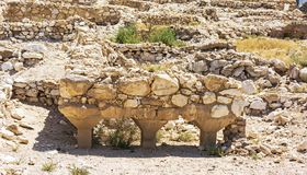 Water System of the Canaanite City at Tel Arad in Israel stock images