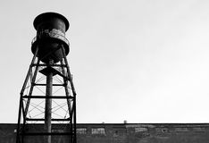 Water-tank. Old factory converted in funny condos. Camera: Nikon D50 stock photography