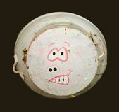 Water Tank. Funny face painted water tank Royalty Free Stock Photography