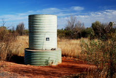 Water tank in Australian desert Stock Photos