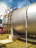 Water tank (capsule) supply fire water Royalty Free Stock Photo