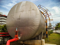 Water tank (capsule) supply fire water Stock Photo