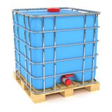 Water tank cube. On white background Royalty Free Stock Photos