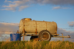 Water tank on a dike Royalty Free Stock Photos