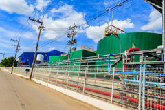 Water tank inside the factory. Industrial plants that have environmental management systems in the provinces of Thailand royalty free stock image