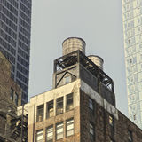 Water tank, NYC Stock Image