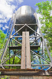 Water tank  for an old steam train. Stock Images