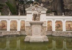 Water tank Pfederschwemme in Salzburg Stock Photo